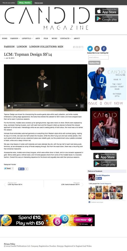 LCM: Topman Design SS'14 | Candid Magazine